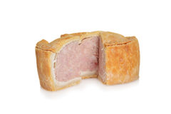 Sliced pork pie Royalty Free Stock Photos