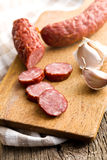 Sliced pork sausage Stock Photography