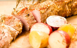 Sliced Pork Tenderloin Royalty Free Stock Photography