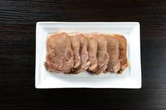 Sliced pork tongue Stock Images
