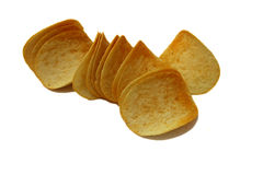Sliced  Potato chips Royalty Free Stock Photo