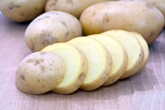 Sliced potatoes Stock Images