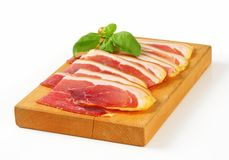 Sliced prosciutto crudo Royalty Free Stock Photography