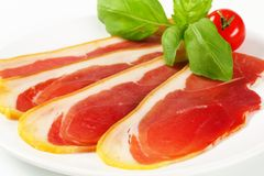 Sliced prosciutto crudo Stock Photo