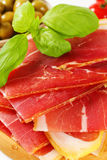 Sliced prosciutto crudo Stock Photos