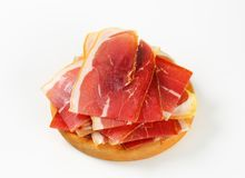 Sliced prosciutto crudo Royalty Free Stock Photo
