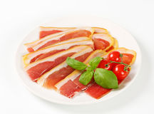 Sliced Prosciutto crudo Royalty Free Stock Images