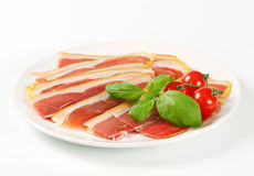 Sliced Prosciutto crudo Stock Image