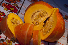 Sliced pumpkin Stock Photography