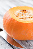 Sliced pumpkin Royalty Free Stock Image
