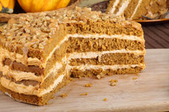 Sliced Pumpkin Cake Stock Image