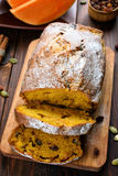 Sliced pumpkin loaf Royalty Free Stock Photography