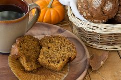 Sliced Pumpkin Muffin Royalty Free Stock Photos