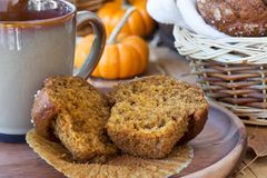 Sliced Pumpkin Muffin Royalty Free Stock Photo