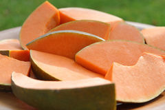 Sliced Pumpkin Royalty Free Stock Images