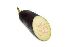 Sliced purple aubergine Stock Photography
