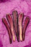 Sliced Purple Carrots stock photo