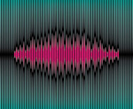 Sliced waveform background Royalty Free Stock Image