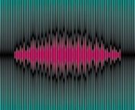 Sliced waveform background. Sliced purple waveform on the green background Royalty Free Stock Image