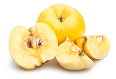 Sliced quinces Stock Images
