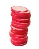 Sliced radish Stock Image