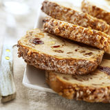 Sliced raisin bread Royalty Free Stock Photography