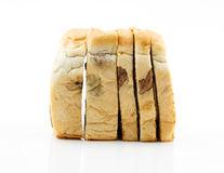 Sliced raisin bread on white background Stock Image