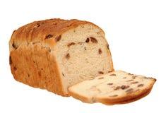 Sliced raisin cinnamon bread Stock Images