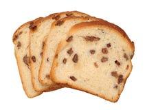 Sliced raisin cinnamon bread Royalty Free Stock Images