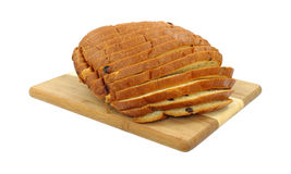 Sliced Raisin Sweet Bread Royalty Free Stock Photo