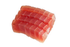 Sliced raw bluefin tuna royalty free stock images
