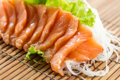 Sliced raw salmon sashimi Royalty Free Stock Photo