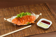 Sliced raw salmon sashimi Royalty Free Stock Image