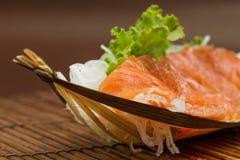 Sliced raw salmon sashimi Royalty Free Stock Photography