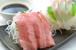 Sliced raw fish called Sashimi Royalty Free Stock Images