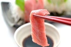 Sliced raw fish called Sashimi Stock Photo