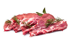 Sliced raw meat  Stock Images