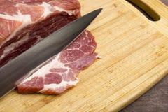 Sliced raw meat pork Royalty Free Stock Photo