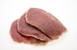Sliced raw pork Royalty Free Stock Images