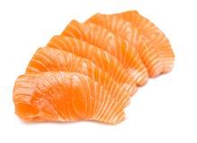 Sliced raw salmon Stock Photography