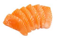 Sliced raw salmon Royalty Free Stock Photos