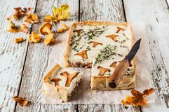 Chanterelle and Thyme Tart Royalty Free Stock Image