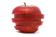 Sliced red apple Royalty Free Stock Image