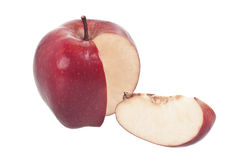 Sliced Red Apple Stock Photography