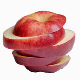 Sliced Red Apple Royalty Free Stock Photos