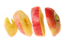 Sliced red apple - isolated Stock Photography