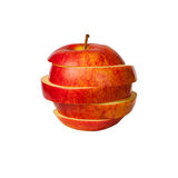 Sliced red apple isolated on white Royalty Free Stock Photo