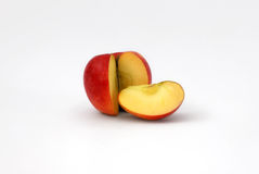 Sliced red apple isolated. On a white background royalty free stock photo