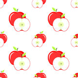 Sliced red apple with leaf Stock Image