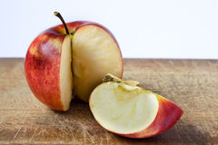 Sliced red apple Stock Images